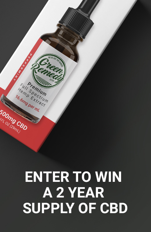 Enter to win a 2 year supply of CBD